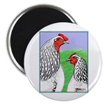Columbian Cock and Hen Magnet