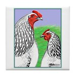 Columbian Cock and Hen Tile Coaster