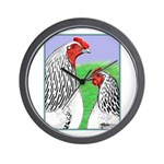 Columbian Cock and Hen Wall Clock