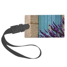 Lavender flower against door. Luggage Tag