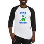 Being 5 Rocks! Dinosaur Baseball Jersey