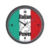 Italian Power Wall Clock
