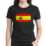 Spain Spanish Flag Women's Dark T-Shirt