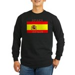 Spain Spanish Flag Long Sleeve Dark T-Shirt