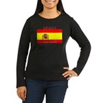 Spain Spanish Flag Women's Long Sleeve Dark T-Shir