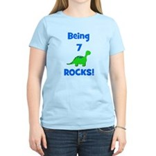 Being 7 Rocks! Dinosaur T-Shirt