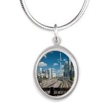 Bridge view of Rails  and  To Silver Oval Necklace