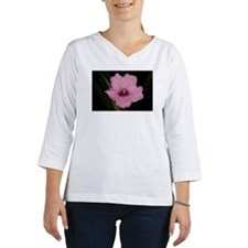 Pink Mexican Petunia flower hea Women's Long Sleeve Shirt (3/4 Sleeve)