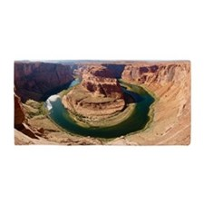 Horseshoe bend and colorado river Beach Towel