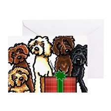 Labradoodle Christmas Greeting Card