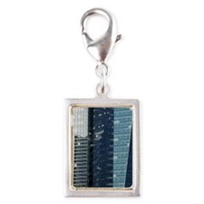 Sea of glass windows on offi Silver Portrait Charm