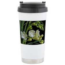 White cymbidium orchid Travel Mug