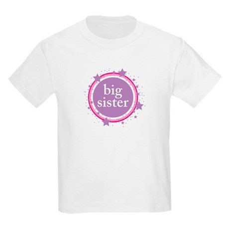 pink & purple big sister Kids Light T-Shirt