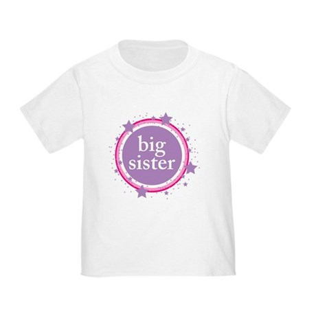 pink & purple big sister Toddler T-Shirt