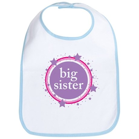 pink & purple big sister Bib