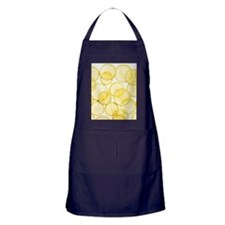 Lemon slices arranged in pattern Apron (dark)