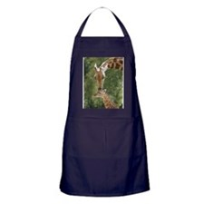 Mother and baby giraffe Apron (dark)