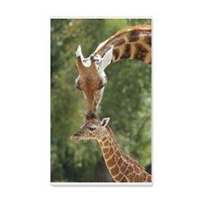Mother and baby giraffe Wall Decal