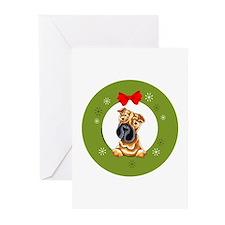 Chinese Shar Pei Christmas Greeting Cards 10 pk