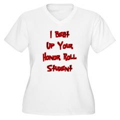 Honor Roll Bully Women's Plus Size V-Neck T-Shirt