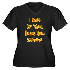 Honor Roll Bully Women's Plus Size V-Neck Dark Tee