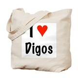 I love Digos Tote Bag
