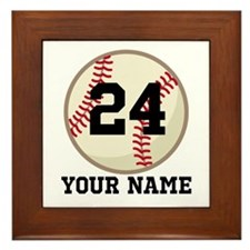 Personalized Baseball Sports Framed Tile