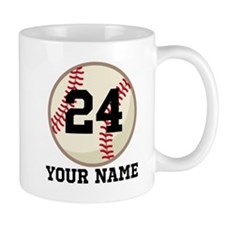Personalized Baseball Sports Small Mugs