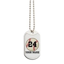 Personalized Baseball Sports Dog Tags