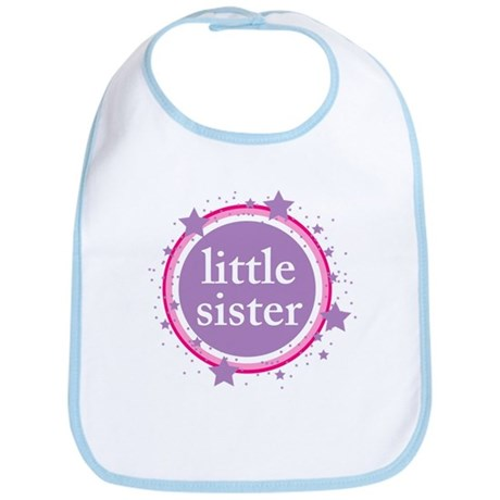pink & purple little sister Bib