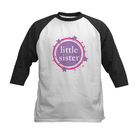pink & purple little sister Kids Baseball Jersey