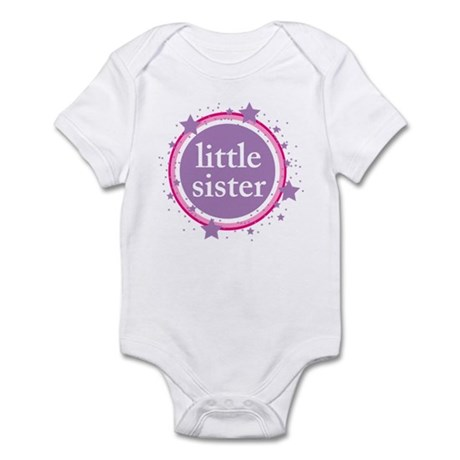 pink & purple little sister Infant Bodysuit