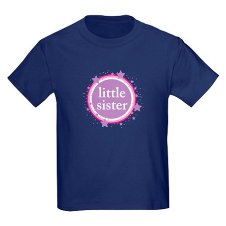 pink & purple little sister Kids Dark T-Shirt