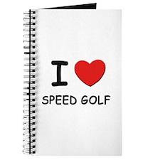 I love speed golf Journal