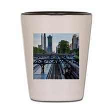 Van Buren Street Station and Metra Trai Shot Glass