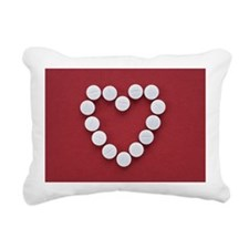 Pills in Heart Shape Rectangular Canvas Pillow