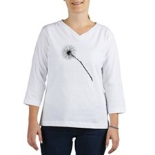 Monochrome Dandelion Women's Long Sleeve Shirt (3/4 Sleeve)