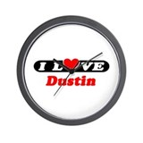 I Love Dustin Wall Clock