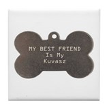 Kuvasz Friend Tile Coaster
