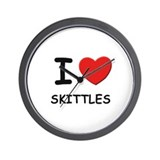 I love skittles  Wall Clock
