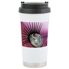 Car eyelashes headlight Travel Mug