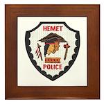 Hemet Police Framed Tile