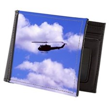 Military transport helicopter Mens Wallet