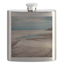 Lake Michigan under cloud and skies Flask