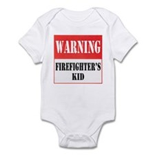Firefighter Warning-Kid Infant Bodysuit