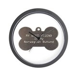 Buhund Friend Wall Clock