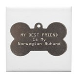 Buhund Friend Tile Coaster