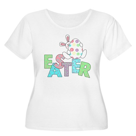 Bunny With Easter Egg Women's Plus Size Scoop Neck