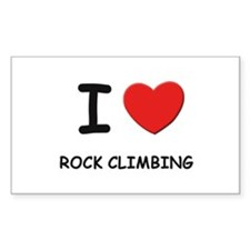 I love rock climbing Rectangle Decal