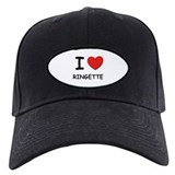 I love ringette Baseball Hat